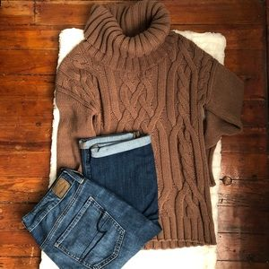 Women's Lands' End Cable Knit Sweater